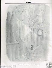 Publicité advertising 1994 Dessin signé Sempé