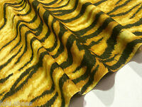TIGER Leopard Animal Print Upholstery Curtain Cotton Fabric Material 140cm wide