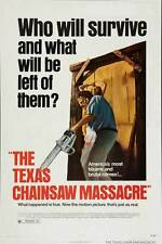"THE TEXAS CHAINSAW MASSACRE Movie Poster [Licensed-New-USA] 27x40"" THEATER SIZE"