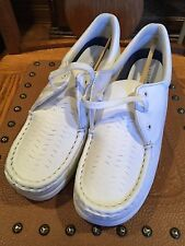 "WOMENS *MINT"" WHITE LEATHER LILLY NURSE NURSING SHOES 9 W"