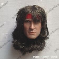 Custom 1/6 Scale Sylvest Stallone Rambo Head Sculpt For Hot Toys/Ganghood Body