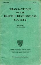 Sowter, F A (editor) TRANSACTIONS OF THE BRITISH BRYOLOGICAL SOCIETY 1947 VOLUME