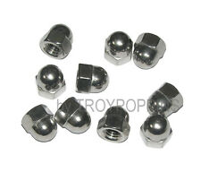 10-SS M8 ISO 1.25 HEX CAP ACORN NUTS TYPE A2 METRIC STAINLESS STEEL HARDWARE 8MM