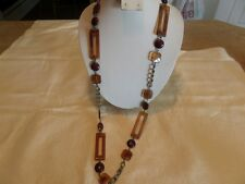 Avon NR Amber Marbled Plastic Necklace