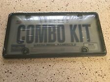 New in Package - Cruiser Combo Kit License Plate Frame w Protector Shield
