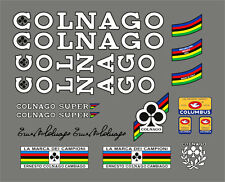 COLNAGO SUPER FRAME DECAL SET WHITE VERSION