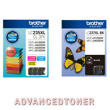 Genuine Brother LC235XL/LC237XL Set of 4 High Yield Ink Cartridges - J4120 J4620