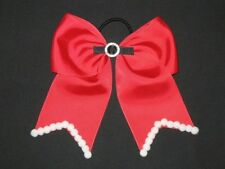 "NEW ""CHRISTMAS Santa Claus"" Cheer Bow Pony Tail 3"" Ribbon Girls Cheerleading"