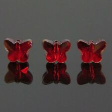 6pcs Swarovski  5x6x10mm Butterfly Crystal beads C Red