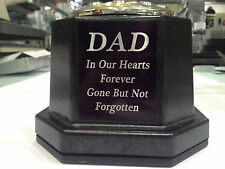 Personalised Grave Pot Flower Memorial for Headstone Silver/Black Any Name/Text
