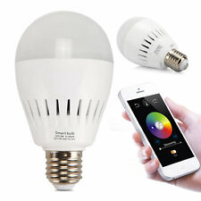 Bluetooth APP Control Music Audio Speaker LED RGB Color Smart Bulb Light Lamp A4