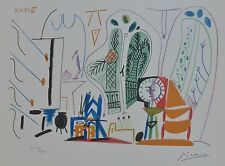 PABLO PICASSO CALIFORNIE SIGNED HAND NUMBERED 2400 LITHOGRAPH ATELIER CALIFORNIA