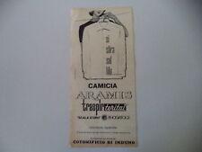 advertising Pubblicità 1961 CAMICIA ARAMIS