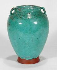 Jugtown Pottery 2 handle Southern Seagrove NC Owen Chinese blue translation vase