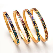 Bangles Handmade Multi-color Meena Work Gold Plated Beautiful Unique Jewelry6318
