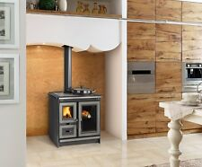 "Wood Cook Stove La Nordica ""Italy Silver"" Kitchen Cooking Range, Wood Burning"