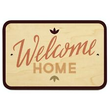 """Welcome Home 9"""" x 6"""" Wood Sign"""