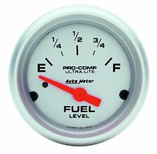 "AUTOMETER Ultra-Lite ELECTRIC UNIVERSAL GM CHEVY FUEL LEVEL GAUGE 2-1/16"" (52mm)"