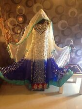 PAKISTANI INDIAN FANCY WEDDING SHAADI SHALWAR KAMEEZ DRESS 3PC MEDIUM SUIT 38""
