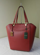 Ralph Lauren Red Lexington N/S Tote