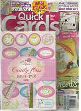 QUICK CARDS MADE EASY,  MARCH, 2012 ( YOUR FAVOURITE CARD MAKING MAGAZINE )