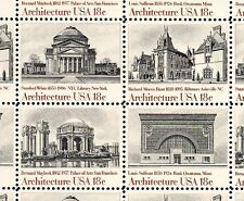 1981 - AMERICAN ARCHITECTURE -#1928-31 Mint -MNH- Sheet of 40 Postage Stamps