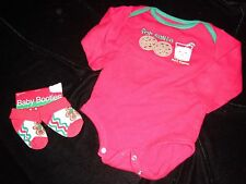 baby boy CHRISTMAS snap bottom TEE 0/6 month NEW GINGERBREAD SOCKS COOKIES DADDY