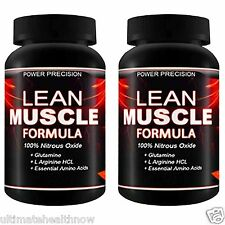 2 Power Precision Lean Muscle Formula Nitric Oxide Arginine Testosterone No Fat