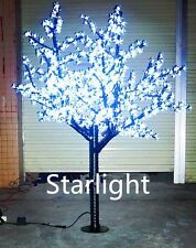 Outdoor LED Christmas Light Cherry Blossom Tree Holiday Decor 864 LEDs 6ft White