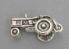 New Sterling Silver 925 Charm Pendant 3D FARM TRACTOR 2390