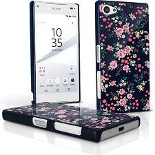 Blumen Hart Plastik Tasche für Sony Xperia Z5 Compact E5803 Schutz Hülle Case