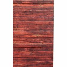 3x5FT Red Wood Floor Wall Backdrop Studio Vinyl Photography Background Props