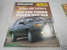 L AUTO JOURNAL 1983 N° 19 Essai 505 GTD Turbo/ Volvo 360 GLE *