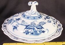"""RARE Meissen BLUE ONION PATTERN ROUND COVERED VEGETABLE 9 1/2"""" DIA."""
