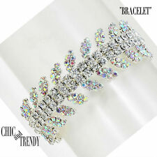 CLASSIC AURORA BOREALIS CRYSTAL BRACELET CRYSTAL PROM FORMAL WEDDING JEWELRY