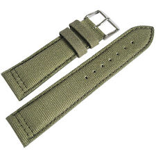 20mm Hadley-Roma MS849 Mens Army Olive Green Canvas Watch Band Strap