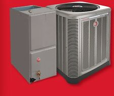 14 SEER RHEEM 4 TON CENTRAL AIR CONDITIONING CONDENSING UNIT AND EVAPORATOR 410A