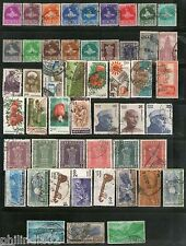 India 50 Different Small & Large Used Stamps Including Definitive & Service