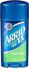 Arrid XX Antiperspirant Deodorant, Solid, Unscented, 2.6 oz (Pack of 12)
