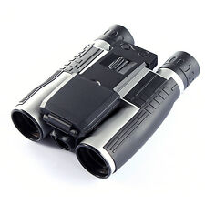 12x32 HD Black Binoculars Telescope Folding with Built-in Digital Camera E5
