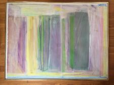 Original Painting Modern Art Abstract Mixed Media Framed C Brieff USA Listed