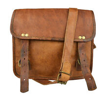"11"" Leather Messenger Bag Satchel Laptop Bag Genuine Leather Bag"