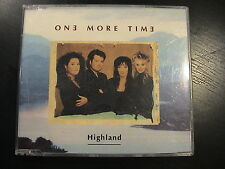 One More Time HIGHLAND European 3-trk CD Maxi Single