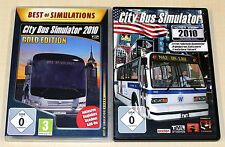 2 PC SPIELE SAMMLUNG - CITY BUS SIMULATOR 2010 GOLD & NEW YORK ------ (2014)