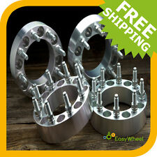 4 Wheel Spacers Adapters 8x6.5 with 9/16 studs fits 8 lug trucks 1 inch thick