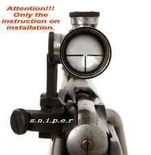 Full INSTALLATION INSTRUCTIONS Mosin Nagant 91/30 PU Sniper Scope. Free Shipping