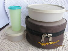 New Tupperware Classic Lunch Box w Insulated Case + Free tumbler
