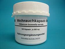 Weihrauch 180 Kapseln  ( 32,00 € /100 g )Boswellia serrata, indischer Weihrauch
