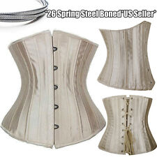28 STEEL BONED Body Control Tummy Underbust Corset Shaper Waist Training Cincher