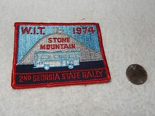 Vintage Georgia W.I.T. Patch Winnebago 2nd Georgia State Rally 1974
